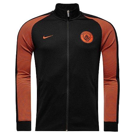 Jaqueta oficial Nike Manchester City 2016 2017 laranja e preta