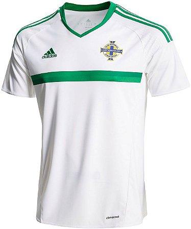 Camisa oficial Adidas seleção da Irlanda do Norte Euro 2016 II jogador