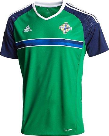 Camisa oficial Adidas seleção da Irlanda do Norte Euro 2016 I jogador