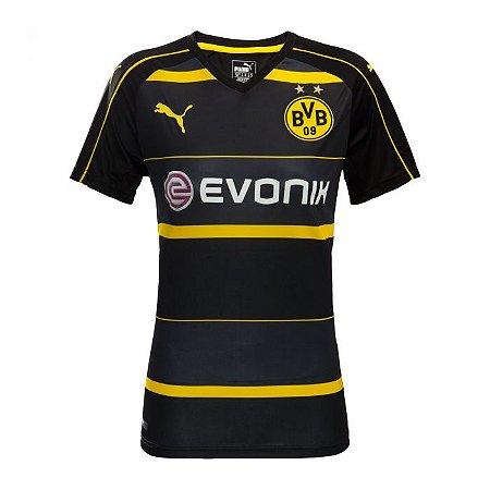 Camisa feminina oficial Puma Borussia Dortmund 2016 2017 II