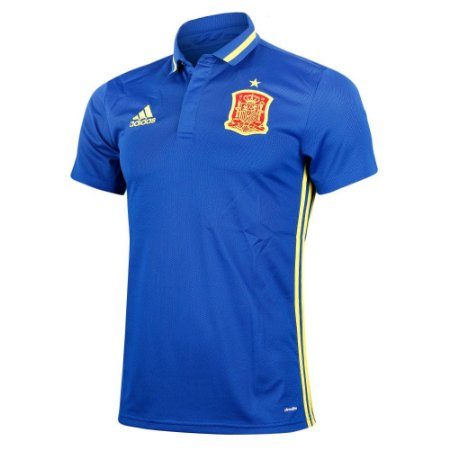 Camisa Polo oficial adidas seleção da Espanha  Euro 2016 azul