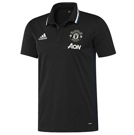 Camisa polo oficial Adidas Manchester United 2016 2017 preto