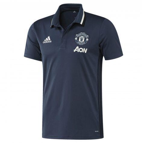 Camisa polo oficial Adidas Manchester United 2016 2017 azul marinho