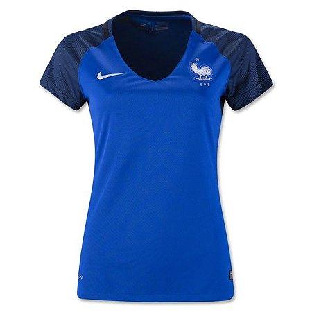 Camisa Feminina oficial Nike seleção da França 2016 I