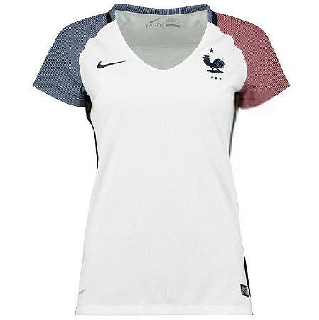 Camisa Feminina oficial Nike seleção da França 2016 II