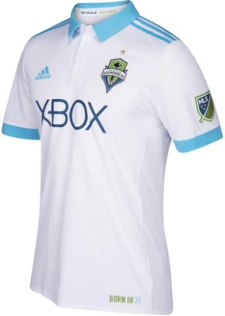 Camisa oficial Adidas Seattle Sounders 2017 II jogador
