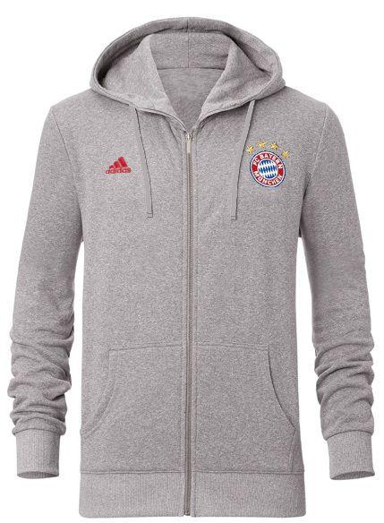 Moletom oficial Adidas Bayern de Munique 2016 2017 cinza