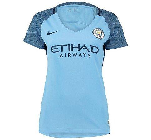 Camisa feminina oficial Nike Manchester City 2016 2017 I