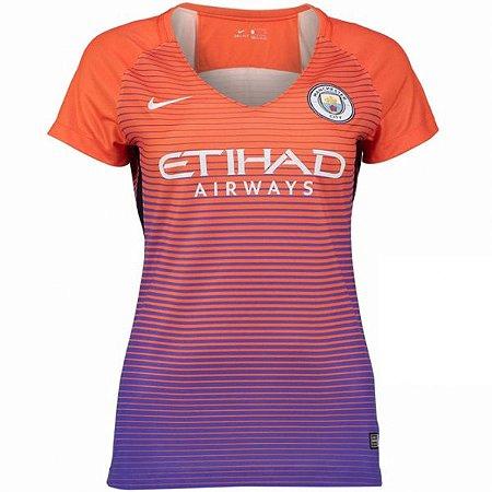 Camisa feminina oficial Nike Manchester City 2016 2017 III