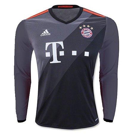 Camisa oficial Adidas Bayern de Munique 2016 2017 II jogador manga comprida