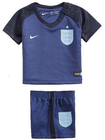 Kit oficial infantil Nike seleção da Inglaterra 2017 III jogador