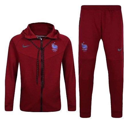 Kit treinamento oficial Nike seleção da França 2017 Vermelho