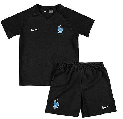 Kit oficial infantil Nike seleção da França 2017 III jogador