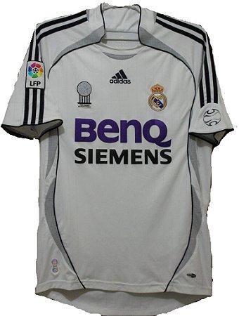 Camisa retro Adidas Real Madrid 2006 2007 I jogador