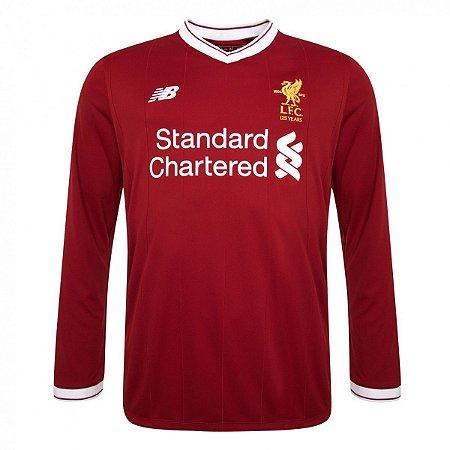 Camisa oficial New Balance Liverpool 2017 2018 I jogador Manga comprida