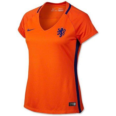 Camisa feminina oficial Nike seleção da Holanda Euro 2016 I