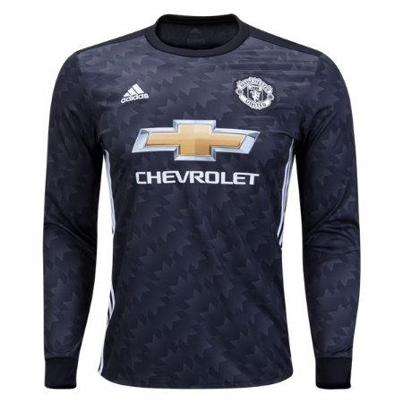 Camisa oficial Adidas Manchester United 2017 2018 II jogador manga comprida
