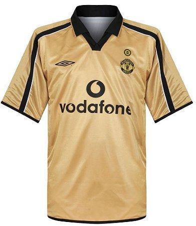Camisa retro umbro Manchester United 2001 2002 II jogador
