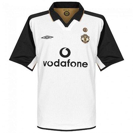 Camisa retro umbro Manchester United 2001 2002 III jogador