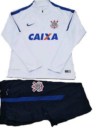 Kit treinamento oficial Nike Corinthians 2017 Branco e azul