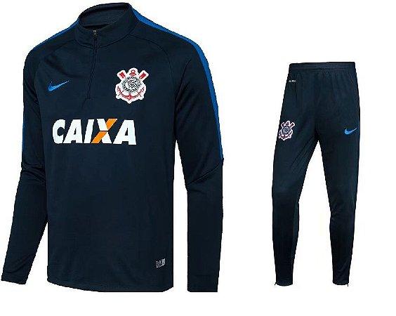 Kit treinamento oficial Nike Corinthians 2017 azul