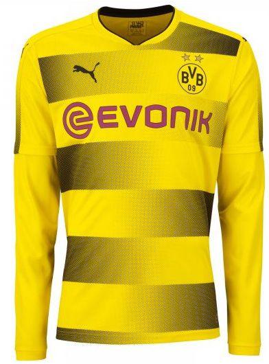 Camisa oficial Puma Borussia Dortmund 2017 2018 I jogador manga comprida