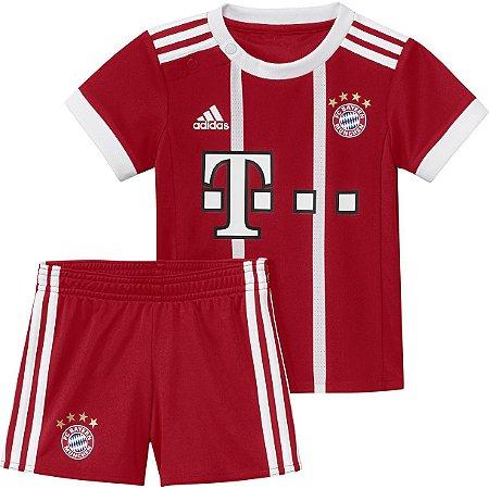Kit infantil oficial Adidas Bayern de Munique 2017 2018 I jogador