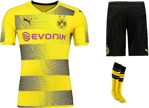 Kit adulto oficial Puma Borussia Dortmund 2017 2018 I jogador
