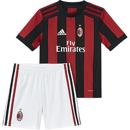Kit infantil oficial Adidas Milan 2017 2018 I jogador