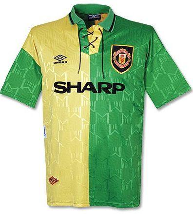 Camisa retro umbro Manchester United 1993 1994 II jogador