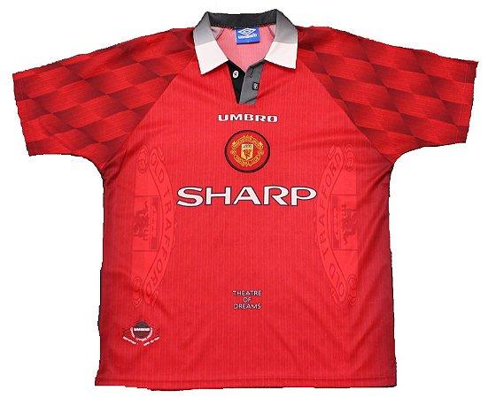 Camisa retro umbro Manchester United 1996 1997 I jogador