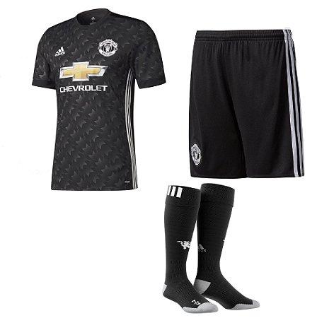 Kit adulto oficial adidas Manchester United 2017 2018 II jogador