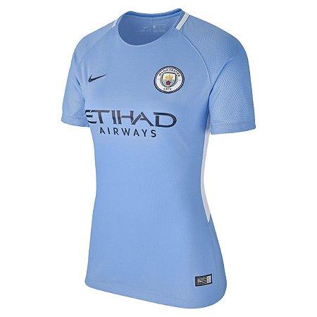 Camisa feminina oficial Nike Manchester City 2017 2018 I