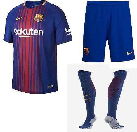 Kit adulto oficial Nike Barcelona 2017 2018 I jogador