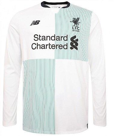 Camisa oficial New Balance Liverpool 2017 2018 II jogador Manga comprida