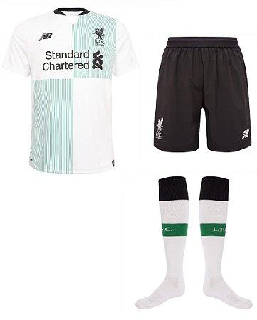 Kit adulto oficial New Balance Liverpool 2017 2018 II jogador