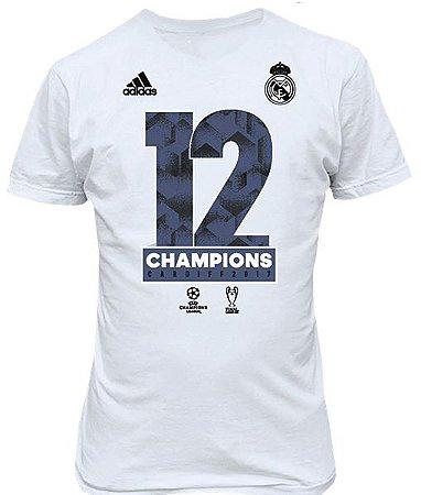 Camisa oficial Adidas Real Madrid 12 champions
