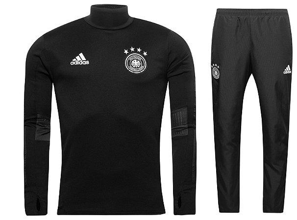 Kit treinamento oficial Adidas seleção da Alemanha 2017 Preto