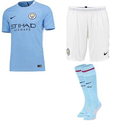 Kit adulto oficial Nike Manchester City  2017 2018 I jogador