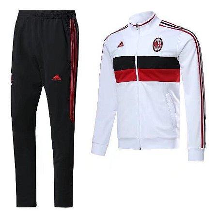 Kit treinamento oficial Adidas Milan 2017 2018 Branco e preto