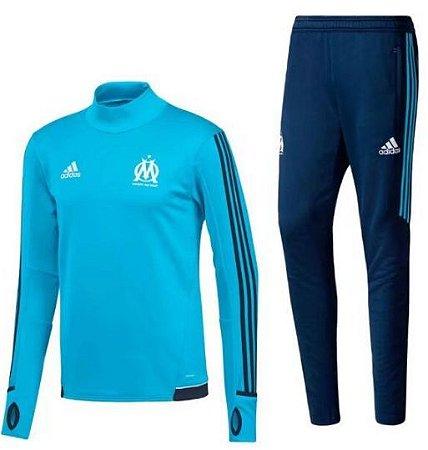 Kit treinamento oficial Adidas Olympique de Marseille 2017 2018 Azul