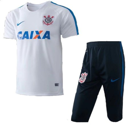 Kit pre jogo oficial Nike Corinthians 2017 branco