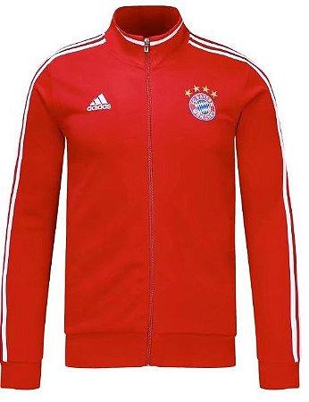 Jaqueta oficial Adidas Bayern de Munique 2017 2018 vermelha