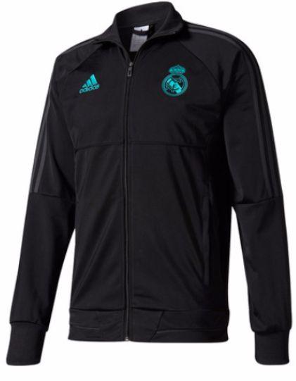 Jaqueta oficial Adidas Real Madrid 2017 2018 preta