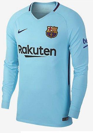 Camisa oficial Nike Barcelona 2017 2018 II jogador manga comprida
