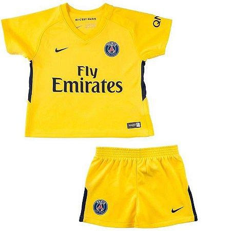 Kit oficial infantil Nike PSG 2017 2018 II jogador