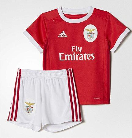 Kit oficial infantil Adidas Benfica 2017 2018 I jogador