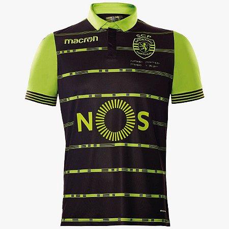 Camisa oficial Macron Sporting Lisboa 2017 2018 II jogador