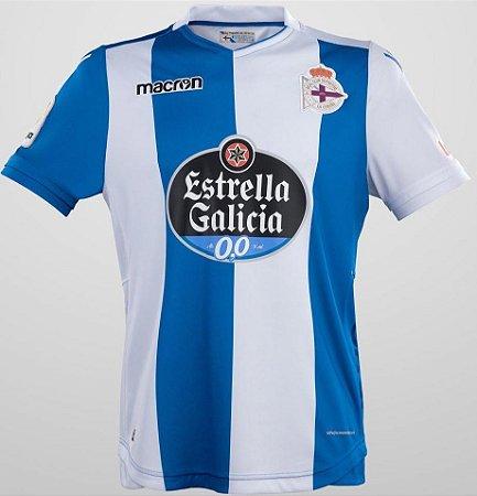 Camisa oficial Macron Deportivo La Coruña 2017 2018 I jogador
