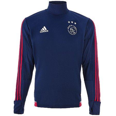 Blusão pre jogo oficial Adidas Ajax 2017 2018 Azul
